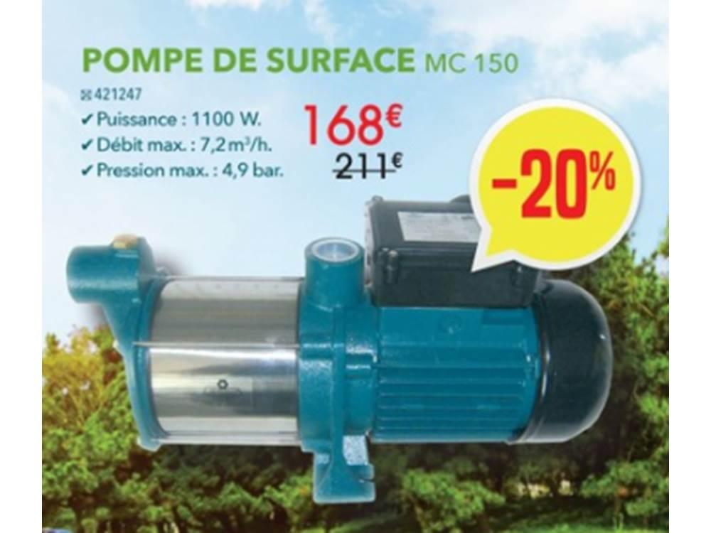 Lapub Re Promos De Irrijardin Pompe De Surface Mc 150 Animaleries Jardineries Piscines