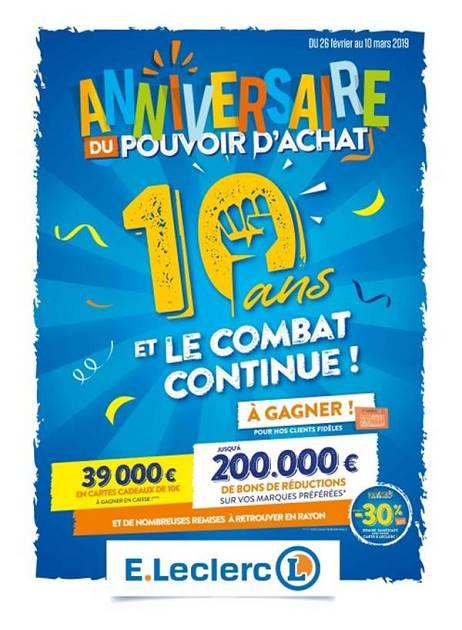 Lapubre Prospectus De E Leclerc 10 Ans Et Le Combat