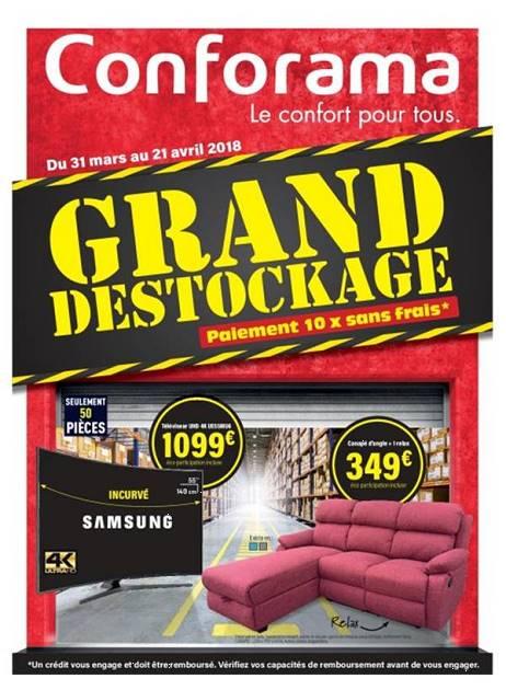 Lapubre Prospectus De Conforama Grand Destockage